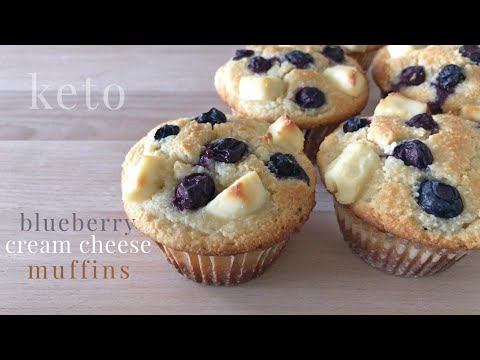 Keto Blueberry Cream Cheese Muffins
