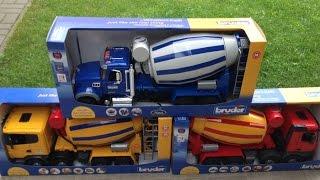 BRUDER Toys MACK Scania Mercedes Benz Arocs Cement mixer truck Betonmisch LKW
