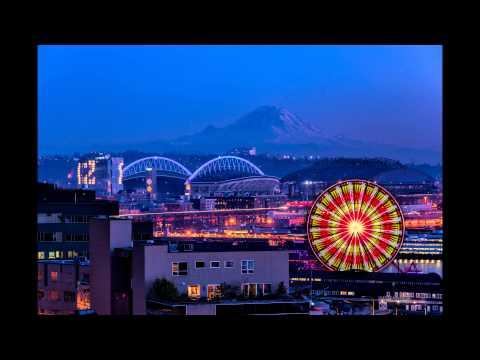 Seattle Great Wheel Light show