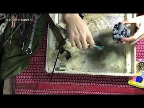 Yamaha rx100 carburetor cleaning tiamlapse