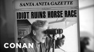 Conan Calls A Santa Anita Horse Race