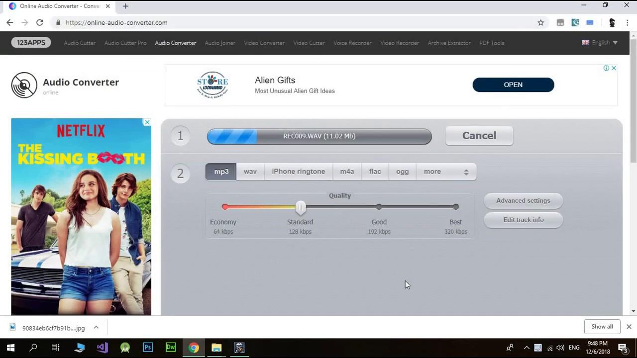 convertir archivos de wav a mp3 online