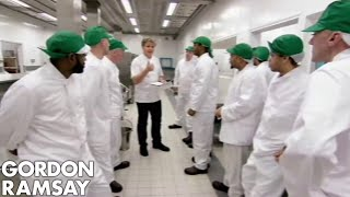 Gordon Ramsay & His Prison Brigade Cook For The Entire Prison | Gordon Behind Bars