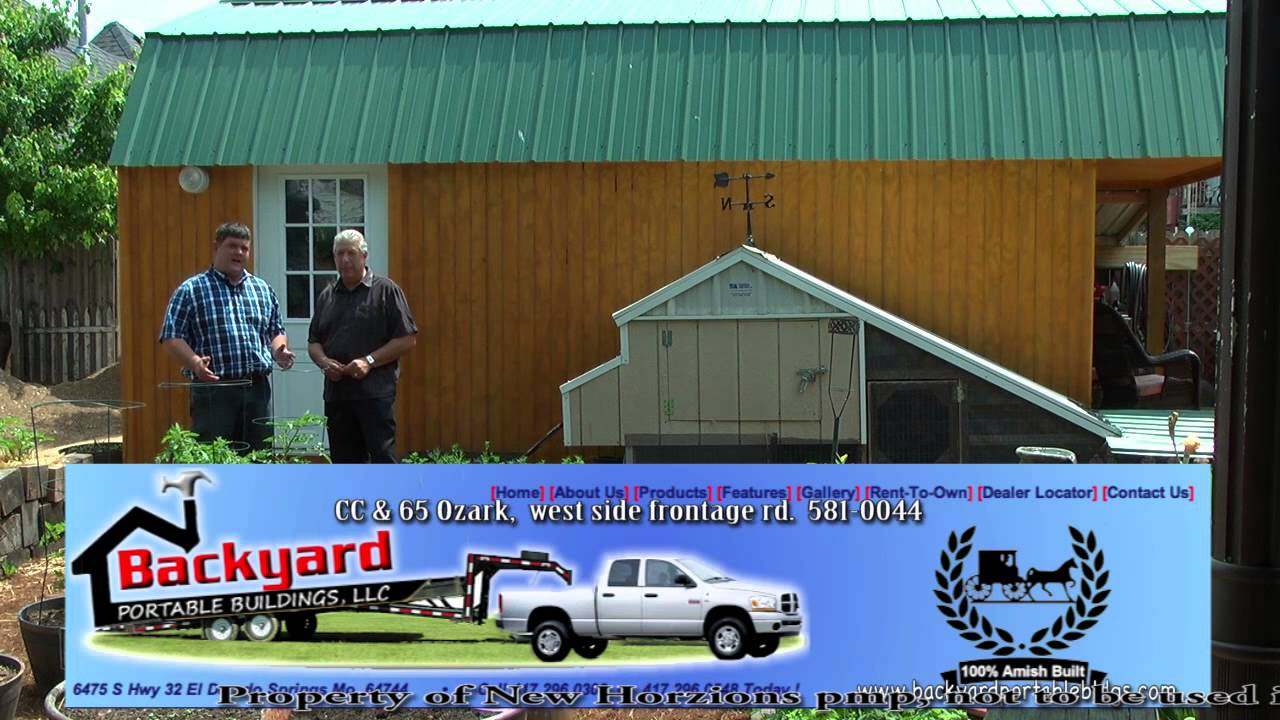 Backyard Portable Buildings - We can build on site!! - YouTube