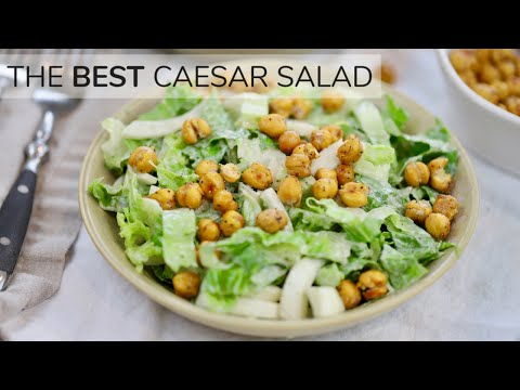CAESAR SALAD RECIPE | light, easy healthy salad