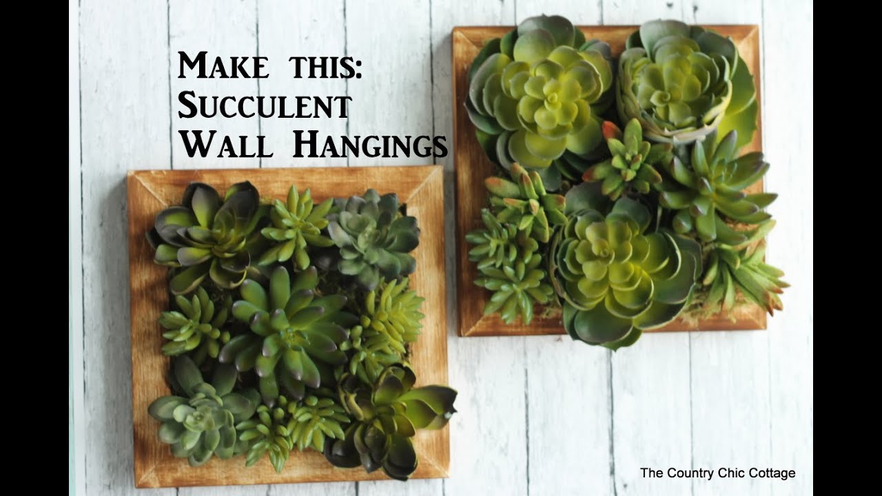 Marvelous Faux Succulent Wall Hanging #craftsunder10hoa   YouTube