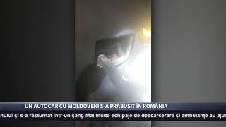 Un autocar cu moldoveni s-a prăbușit în România