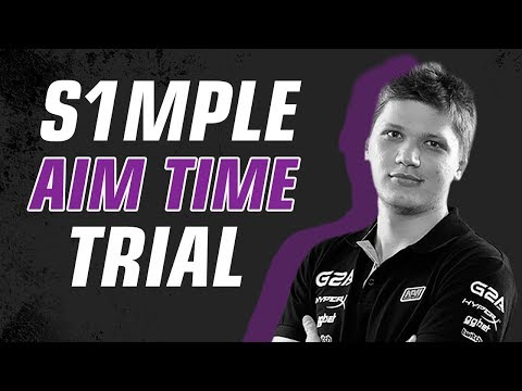 s1mple trying to beat AIM TIME TRIAL record ★ CS:GO