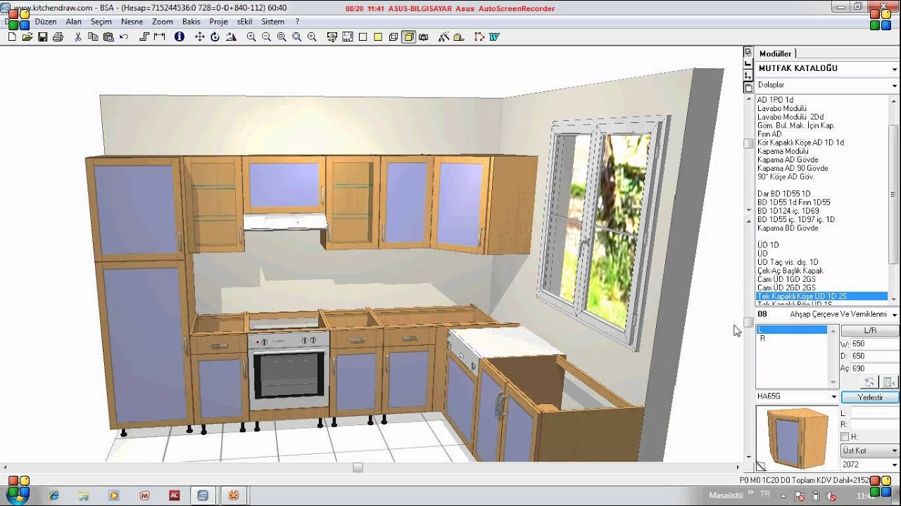 Draw Kitchen Cabinets Sketch Up