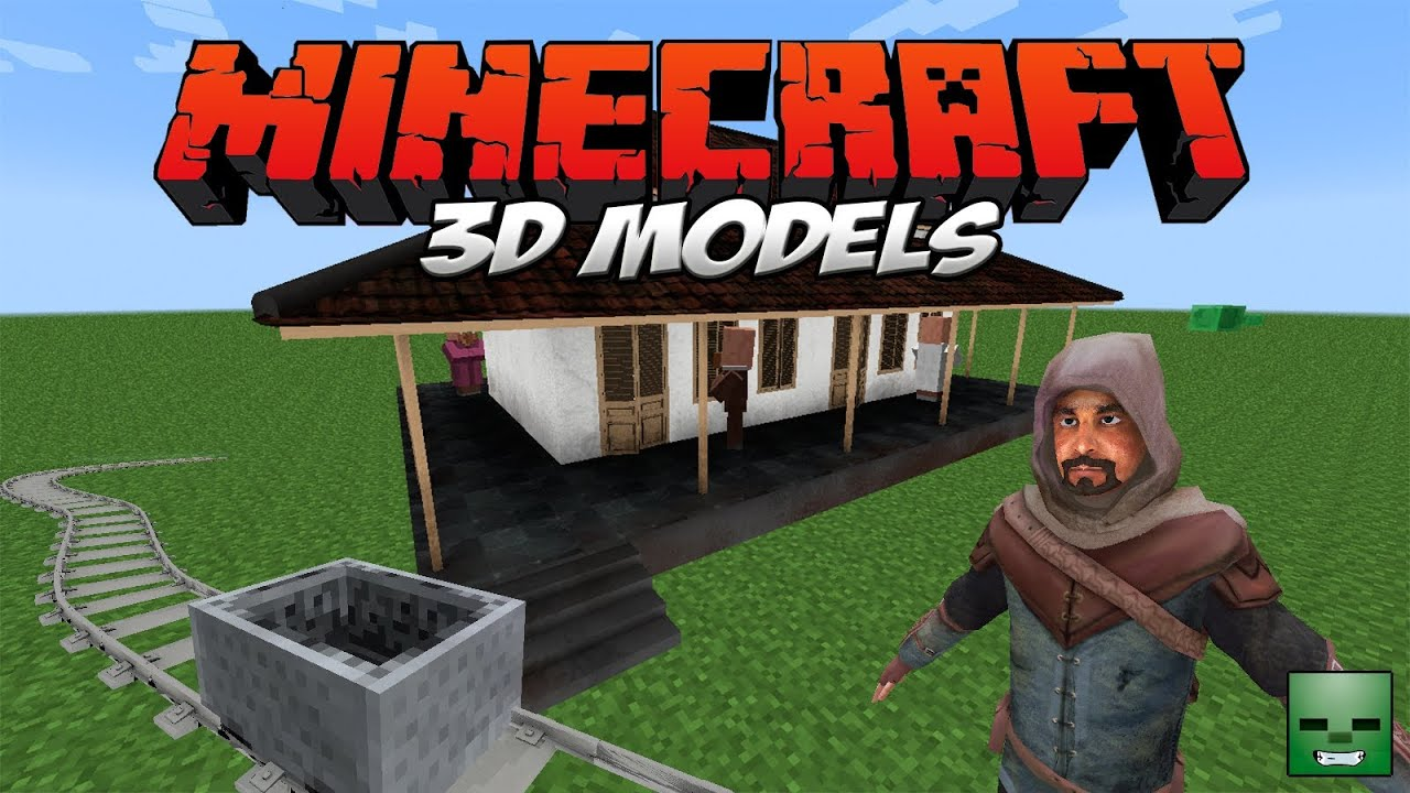Minecraft ResourcePack: 3D Models [Snapshot 14w06b] - YouTube