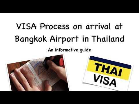 VISA process on arrival at Bangkok Airport, Thailand- A Step by step guide
