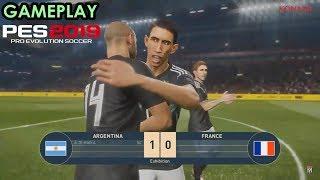 PES 2019 GAMEPLAY FRANÇA X ARGENTINA HD