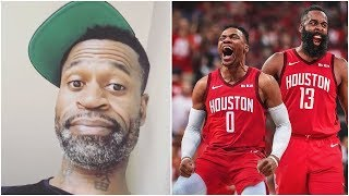 Stephen Jackson reacts to Russell Westbrook being traded to Houston for Chris Paul