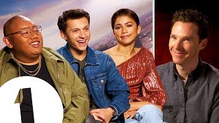 Tom Holland reacts to Benedict Cumberbatch's impression  Plus Zendaya on her 'indifferent' face.
