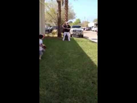 Playing catch with Darren O'Day