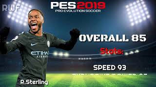 Fastest Players In PES 2019 | Top-10