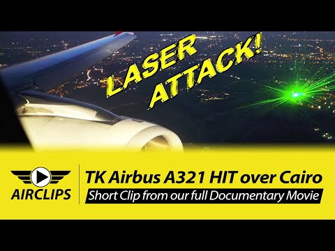 LASER ATTACK ON FLYING AIRPLANE! See this real footage from