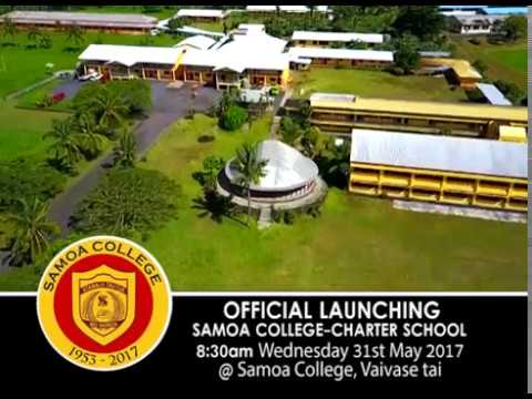 SAMOA COLLEGE Charter School Launching 31-05-17