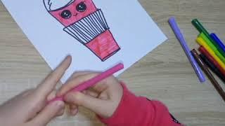 как нарисовать СТАКАН С НАПИТКОМ. ЛЕГКО и ПРОСТО/7 Minutes Craft#КакиНарисоватьСтакан #Рисуем