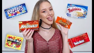 Australian Tries American Candy For The First Time! ASMR thumbnail