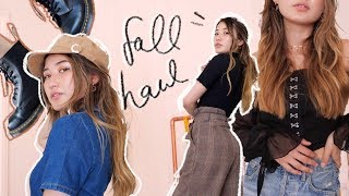 FALL HAUL 🍂thrifted clothes, new shoes + groovy pants