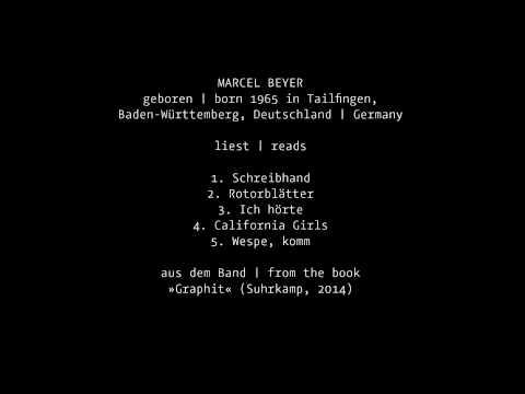 Marcel Beyer liest Gedichte (Einführung auf Englisch)
