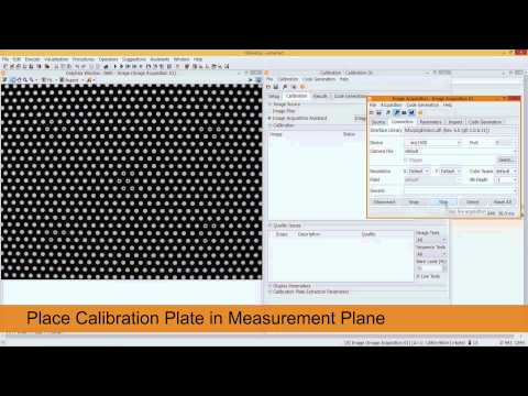 Camera calibration - using a HALCON calibration plate