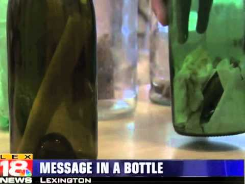 message in a bottle news story