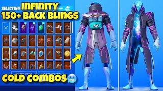 "NEW ""INFINITY"" SKIN Showcased With 150+ BACK BLINGS! Fortnite Battle Royale (BEST INFINITY COMBOS)"