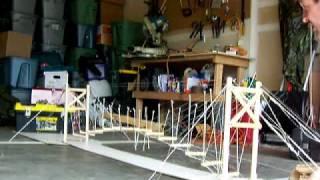 Suspension Draw Bridge (retractable) Demo of model (Version 2)