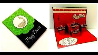 Beautiful Pop Up card for Diwali   diy Diwali card   Complete tutorial