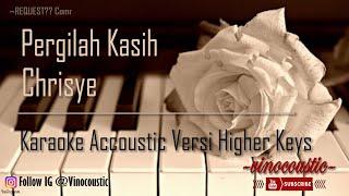 Chrisye - Pergilah Kasih Karaoke Piano Versi Higher Keys