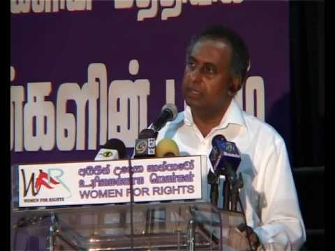 Prof.Sarath Wijesooriya - Women For Rights - Seminar