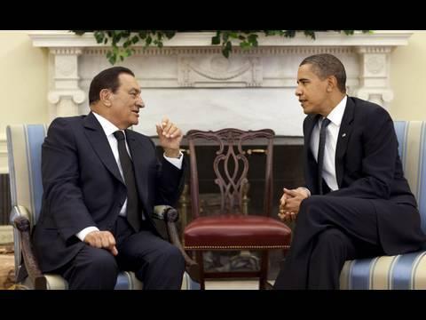 President Obama and President Mubarak Speak to the Press