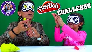 Play-Doh CHALLENGE blind - extreme Version | MILEY vs. AYNUR | FAMILY FUN