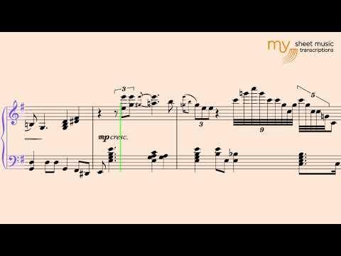 Georgia On My Mind - Piano Jazz Sheet Music Transcription