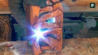Изготовление деревянного плафона. Строительные лайфхаки