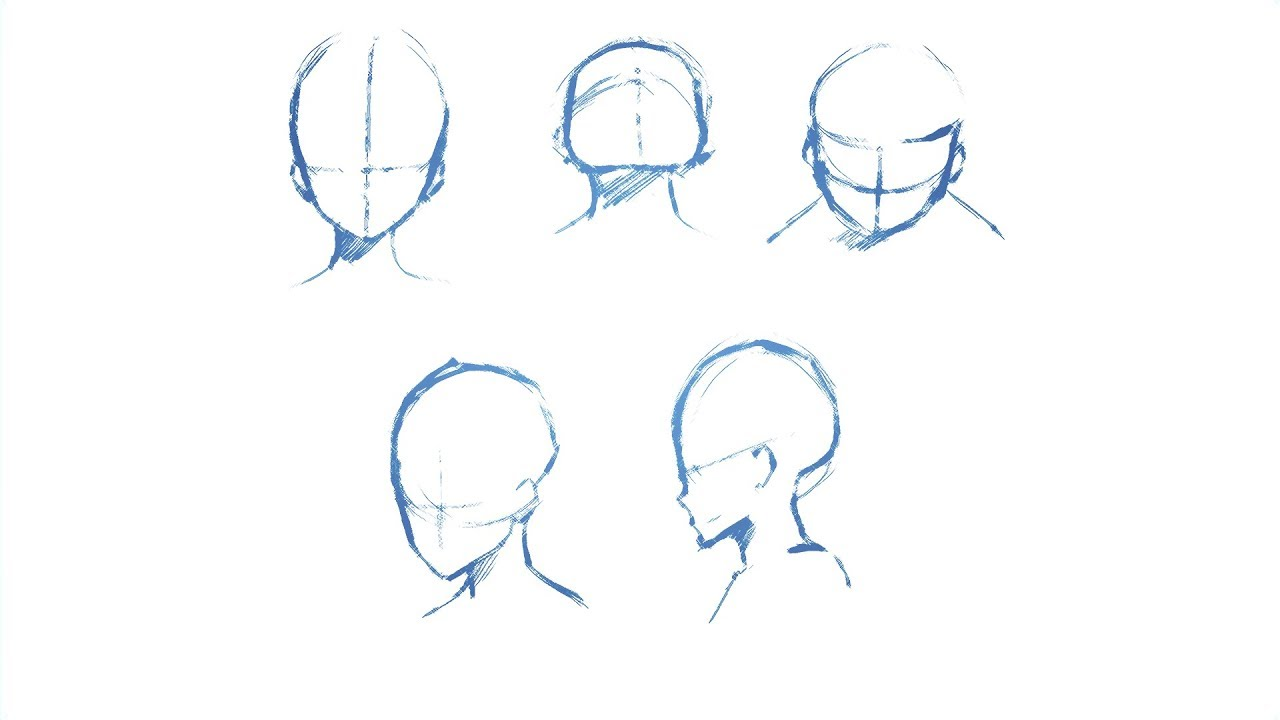 How To Draw Heads From Different Angles Drawing Tutorial Youtube