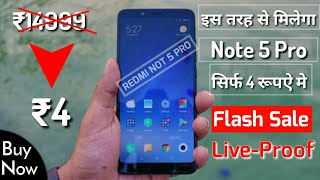 How To Buy Redmi Note 5 Pro Only ₹4-Flash Sale-mi 4th Anniversary-Mi Product Buy On ₹4-In Hindi