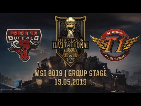 PVB vs SKT [MSI 2019] [13.05.2019] [Group Stage]