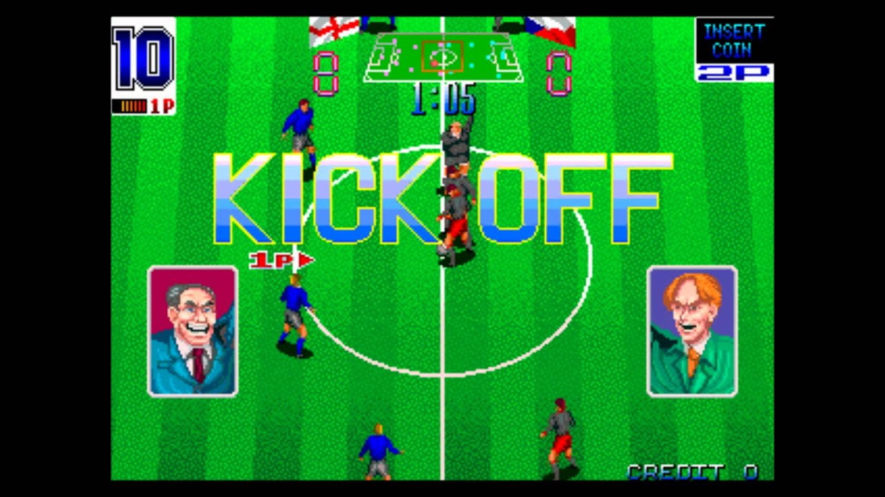 "ARCADE/MAME] Euro Champ '92 (aka ""Football Champ"") 17-0 Win! - YouTube"