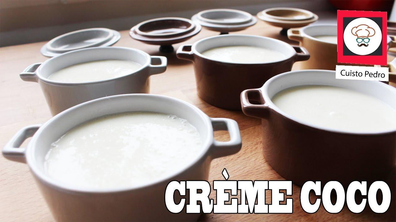 Recette facile et rapide cr me dessert noix de coco - Recette dessert rapide thermomix ...