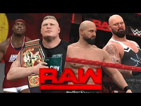 WWE RAW 2K17 Story - Lesnar Meets Lashley & The Club Debut!   02/20/17