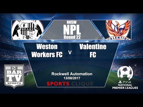 2017 NNSWF NPL Round 22 - Weston Bears FC v Valentine FC
