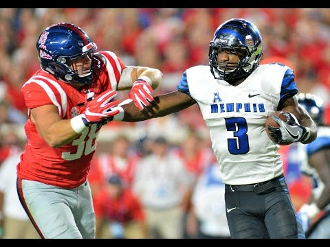 2016 American Football Highlights - Ole Miss 48, Memphis 28