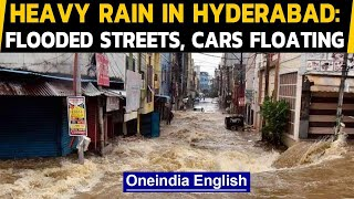 Hyderabad: Flooded streets and cars floating witnessed after heavy downpour in Hyderabad|Oneindia