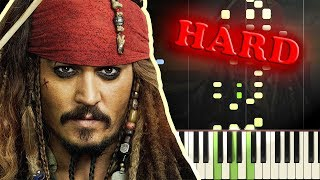 PIRATES OF THE CARIBBEAN - HE'S A PIRATE - Piano Tutorial