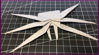 Оригами ПАУК. Как сделать паука из бумаги а4.