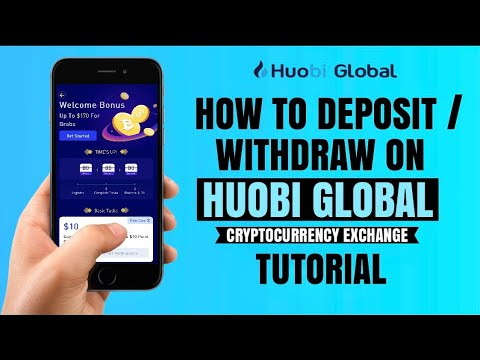 How to DEPOSIT or WITHDRAW on Huobi Global Crypto Exchange | Mobile App Tutorial