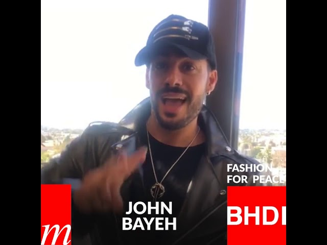 Watch John Bayeh's message on Fashion for Peace